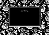 Vector Floral Oriental Pattern and Frame