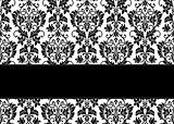 Vector Floral Ribbon Background