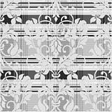 Vector Damask Plaid Pattern