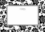 Vector White Floral Pattern and Frame