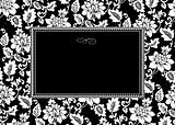 Vector Black Floral Frame