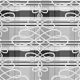 Vector Swirl Plaid Pattern