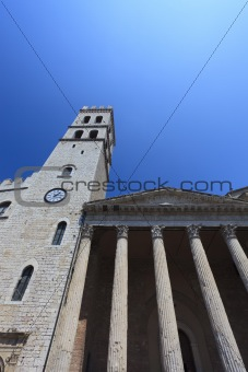 Church in Assisi in Italy
