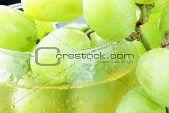 White Grapes in Juice