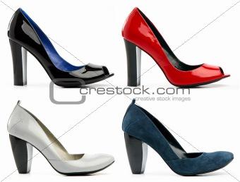 Four female high-heeled shoes