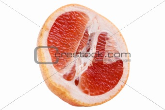 Cutting pomelo close up