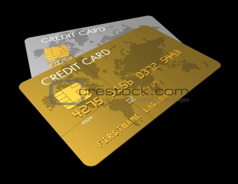Gold and silver credit card