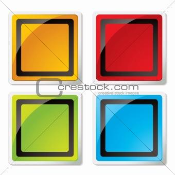 modern square icon