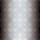 silver floral spiral background