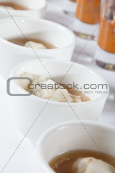 Asian soup with dumpling
