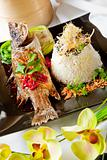 Australian Barramundi, served with fragrant Jasmine rice