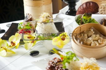 Asian Fusion dishes