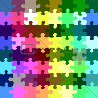rainbow puzzle pieces