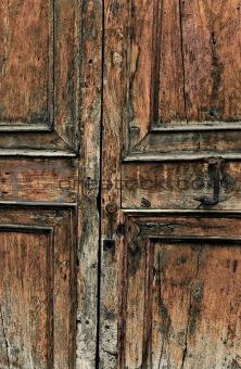 Old antique wooden door