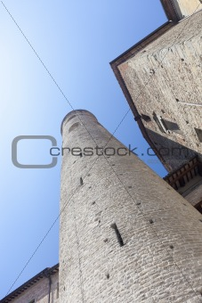 Castle tower in Italy