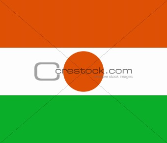 The national flag of Niger