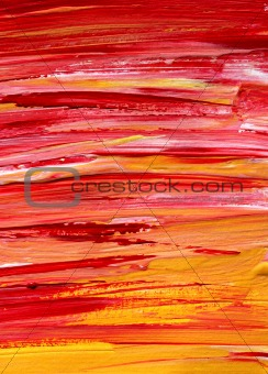 Abstract hand painted brush lines