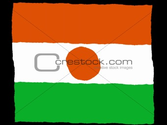 Handdrawn flag of Niger