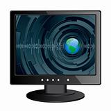 Isolated image of a LCD monitor