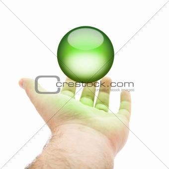 Green Orb Hand