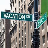 Vacation Street Corner Signs