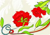 Background with red rose