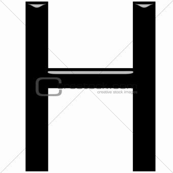 3D Letter H