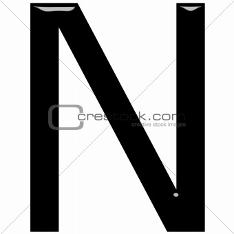 3D Letter N
