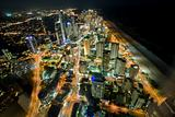 night scene of the gold coast from the high rise building Q1