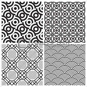 seamless pattern set (vector)