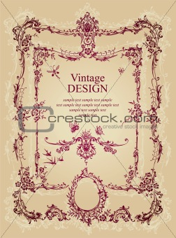 antique frame design (vector)