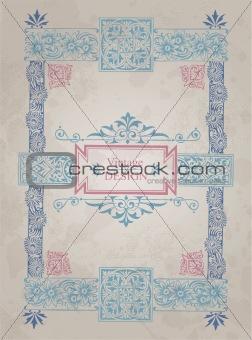 antique frame design (vector)