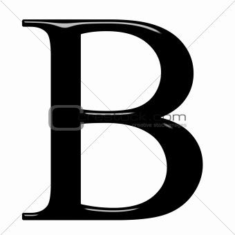 3D Greek Letter Beta