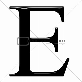 3D Greek Letter Epsilon