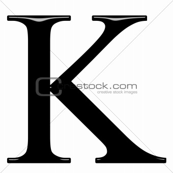 3D Greek Letter Kappa