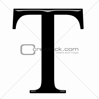 3D Greek Letter Tau