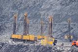 Open-cast mine, extraction of iron ore