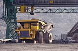 Open-cast mine on extraction of iron ore by open way