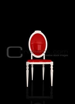Classical white armchair