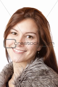 Portrait of young beautiful happy woman