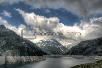 Alps mountains and lake