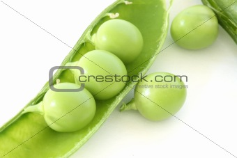 Green pea in pod