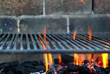 Bar b cue barbecue fire BBQ coal fire iron grill