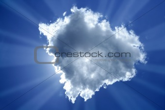 beam sun cloud backlight magic light blue sky