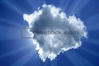 beam sun cloud backlight magic light blue sky