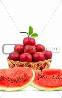 Watermelon and apples