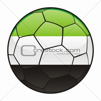 Afghanistan flag on soccer ball