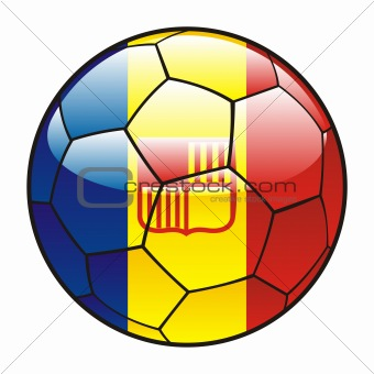 Andorra flag on soccer ball