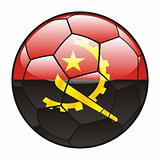 Angola flag on soccer ball