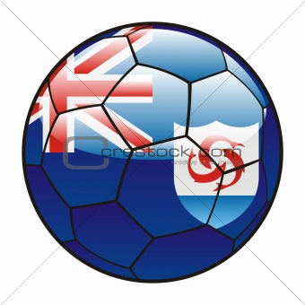 Anguilla flag on soccer ball